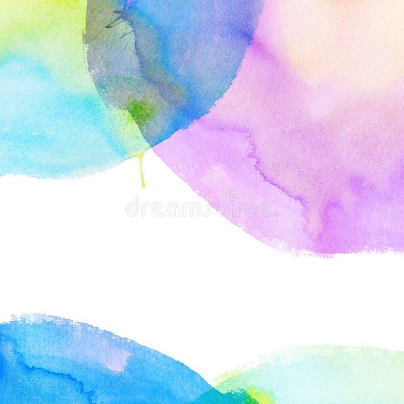 Kleurrijke heldere waterverfachtergrond vector illustratie