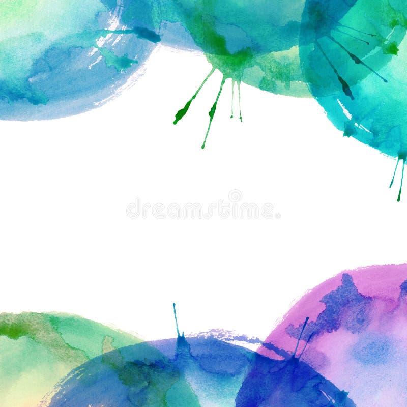 Kleurrijke heldere waterverfachtergrond stock illustratie