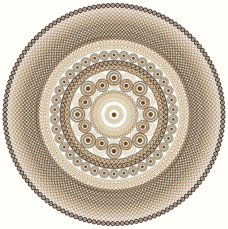 Kleurrijke hennamandala royalty-vrije illustratie