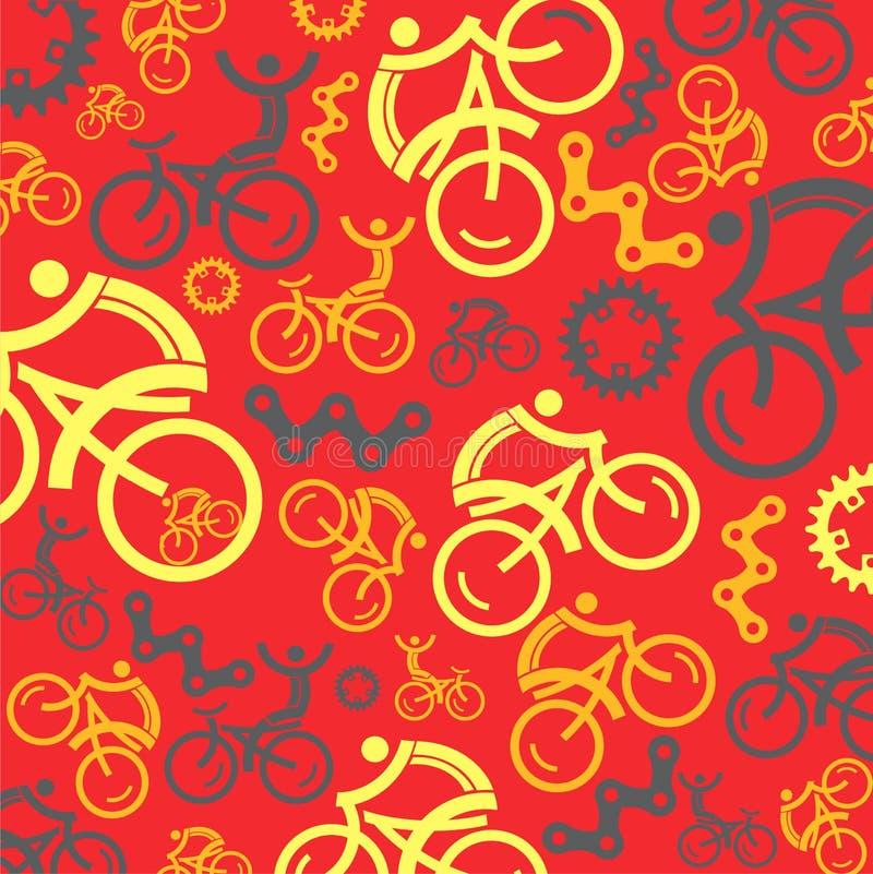 Kleurrijke het cirkelen achtergrond met het cirkelen van pictogrammen Vector graphhics stock illustratie
