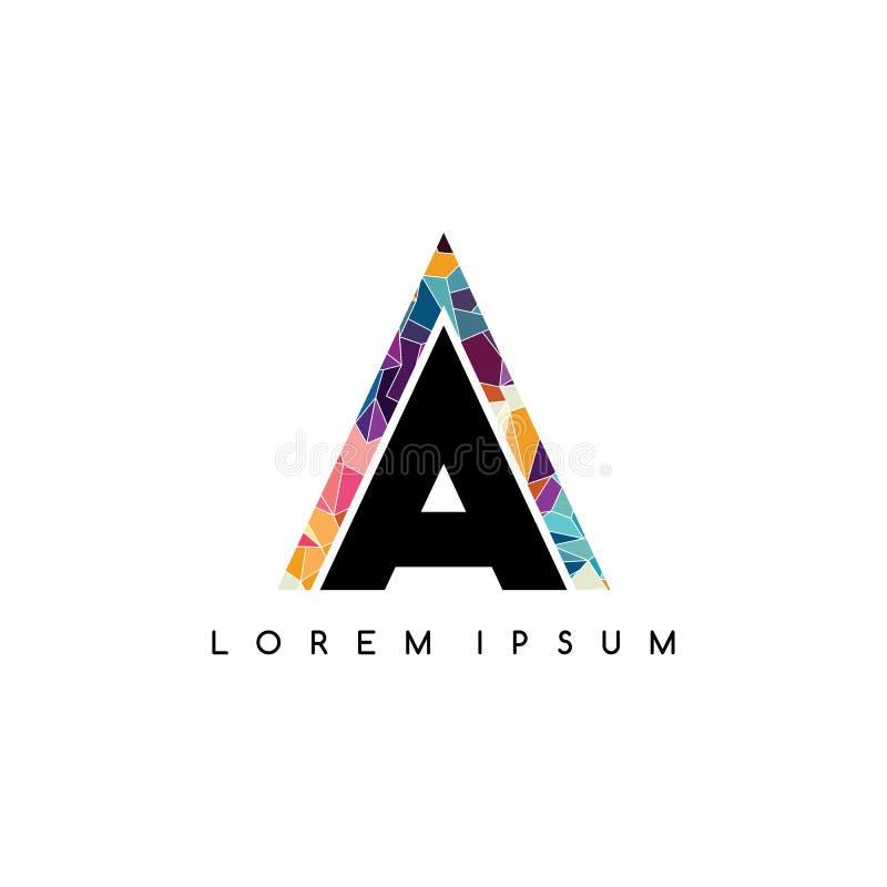 kleurrijke het embleemsamenvatting van brieven aanvankelijke logotype stock illustratie