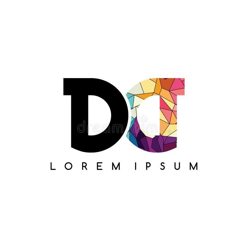 kleurrijke het embleemsamenvatting van brieven aanvankelijke logotype royalty-vrije illustratie