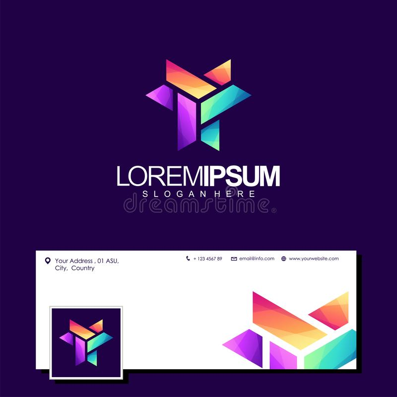 Kleurrijke het ontwerpvector van het brieveny embleem vector illustratie