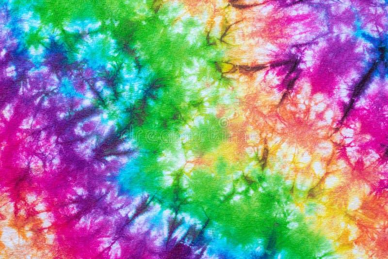 Kleurrijke het patroon abstracte achtergrond van de bandkleurstof vector illustratie