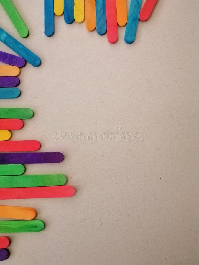 Kleurrijke het roomijsstok van de close-upmening stock foto