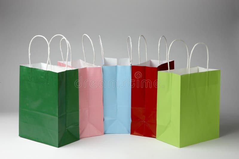 Kleurrijke het winkelen zakken stock foto
