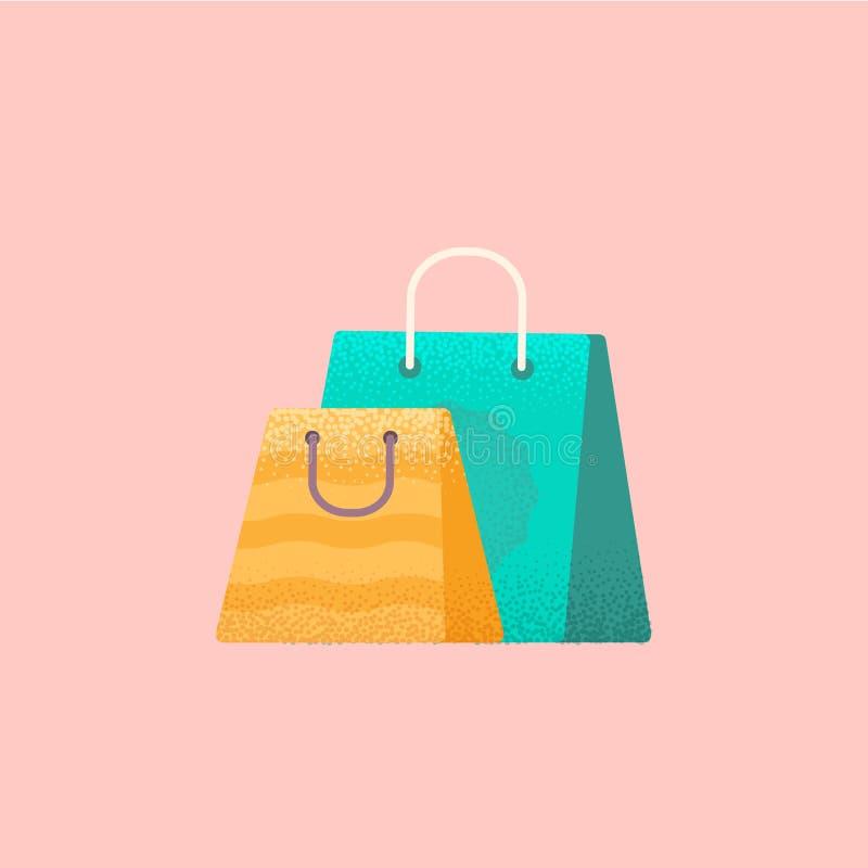 Kleurrijke het winkelen zakken royalty-vrije illustratie