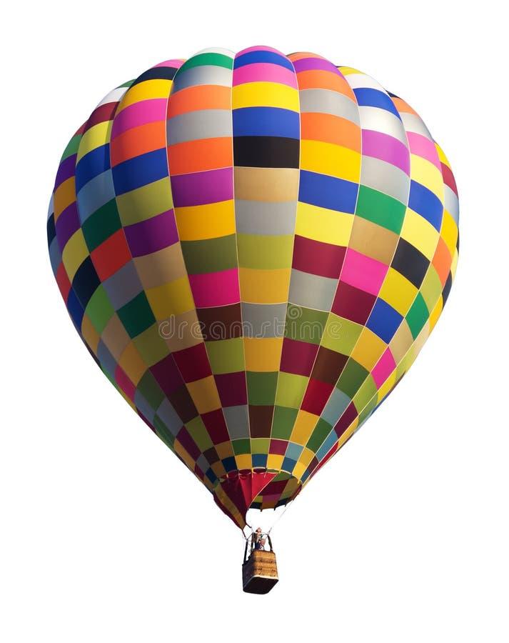 Kleurrijke Hete die Luchtballon op Wit wordt geïsoleerd royalty-vrije stock foto's