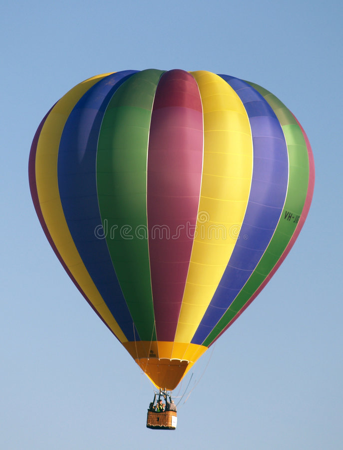 Kleurrijke hete luchtballon royalty-vrije stock fotografie