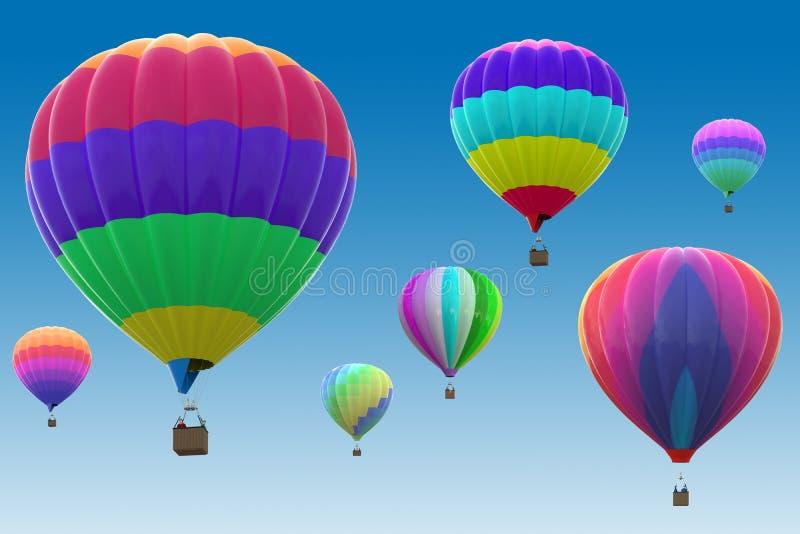 Kleurrijke hete luchtballons vector illustratie
