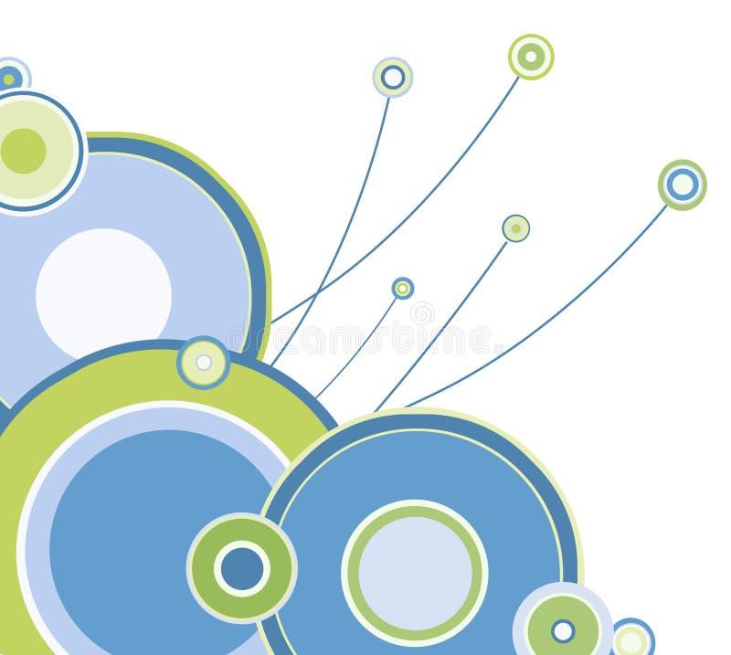 Kleurrijke hoek van cirkels   royalty-vrije illustratie
