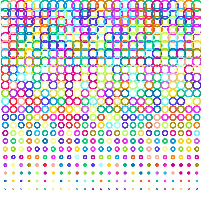 Kleurrijke hoepels op witte achtergrond stock illustratie