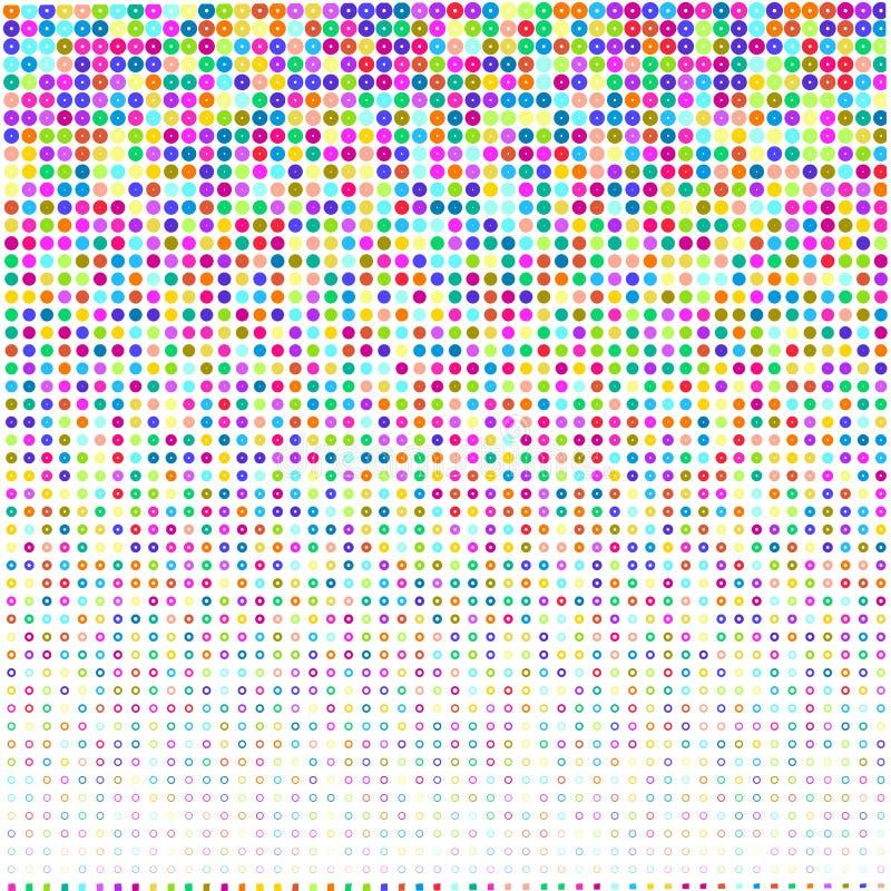Kleurrijke hoepels op witte achtergrond royalty-vrije illustratie