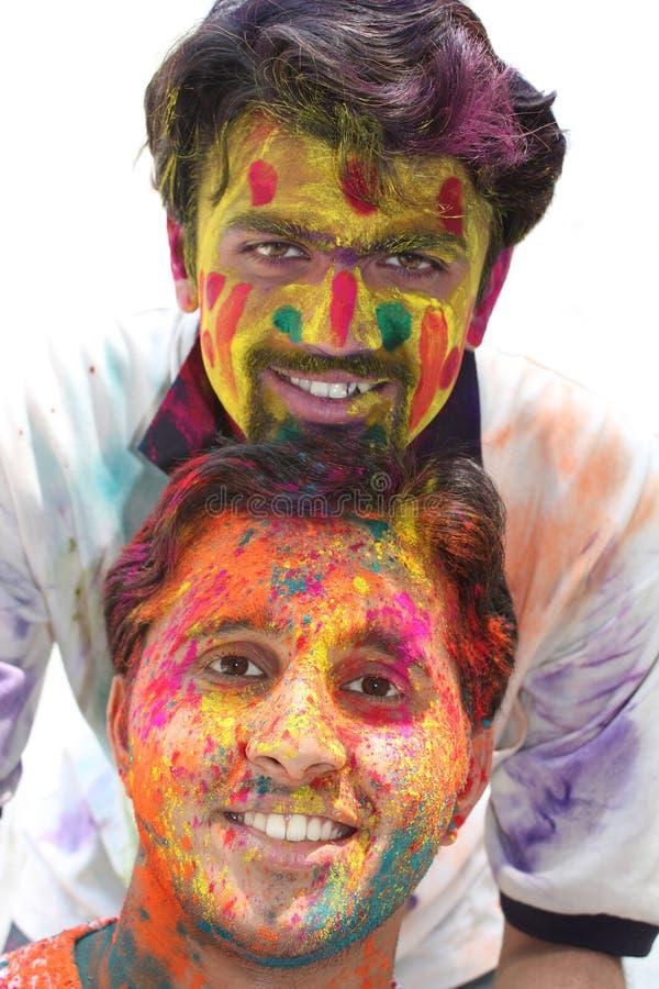 Kleurrijke Holi stock afbeeldingen