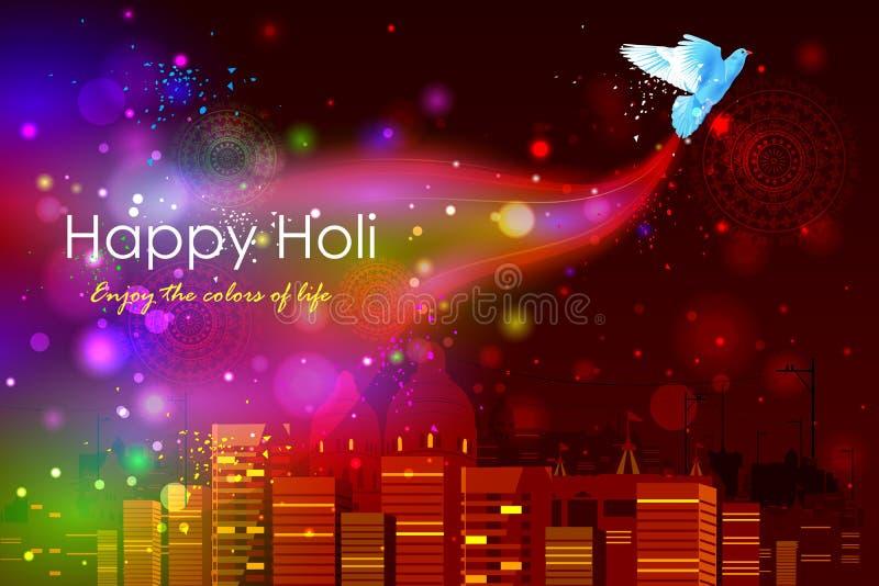 Kleurrijke Holi-Achtergrond stock illustratie