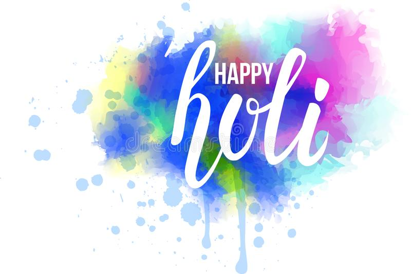 Kleurrijke Holi-de plonsachtergrond van de festivalwaterverf royalty-vrije illustratie