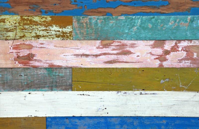 Kleurrijke Houten Achtergrond stock foto