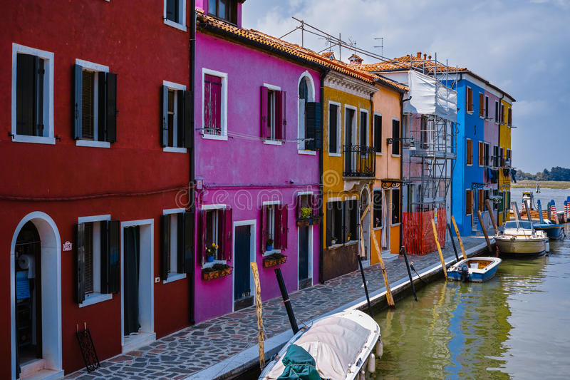 Kleurrijke huizen royalty-vrije stock foto