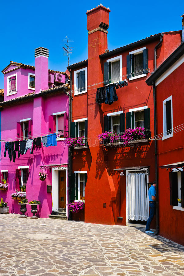 Kleurrijke huizen royalty-vrije stock afbeelding