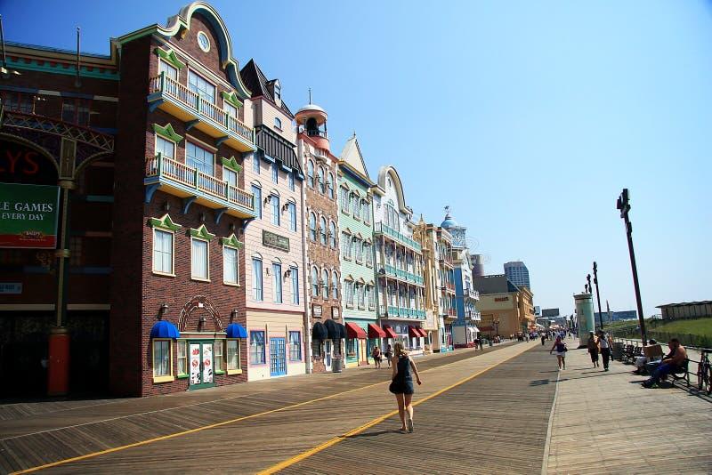 Kleurrijke huizen in Atlantic City royalty-vrije stock foto's