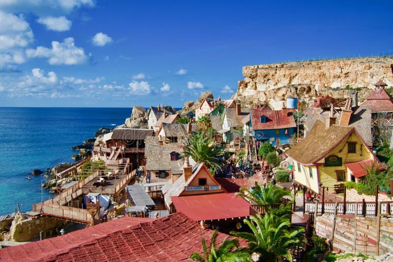 Kleurrijke huizen bij Popeyes-dorp royalty-vrije stock foto's