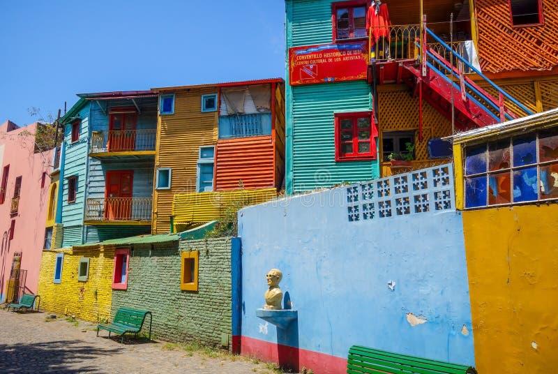 Kleurrijke Huizen in Caminito, Buenos aires stock afbeeldingen