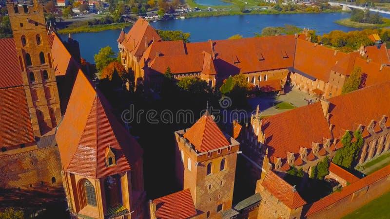 Kleurrijke huizen in oude stad van Polen royalty-vrije stock foto