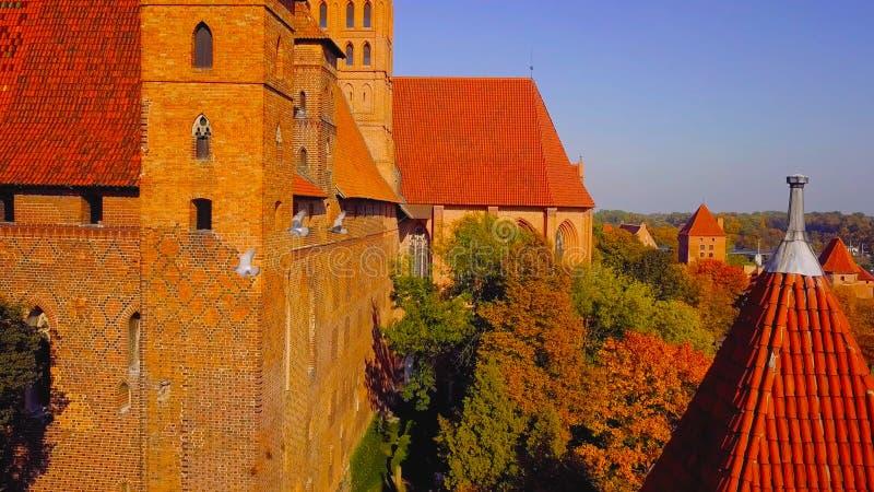 Kleurrijke huizen in oude stad van Polen royalty-vrije stock afbeelding