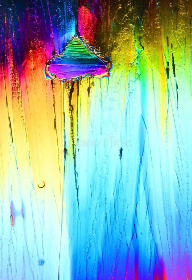 Kleurrijke ijskristallen stock foto's