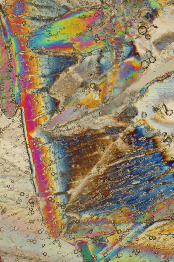 Kleurrijke ijskristallen stock afbeelding
