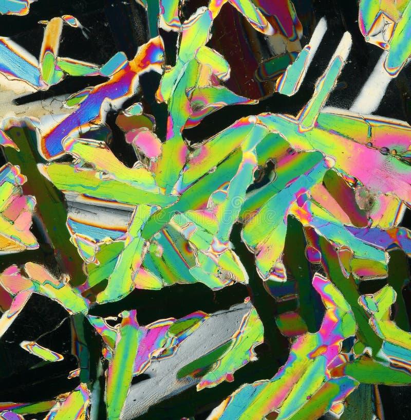 Kleurrijke ijskristallen royalty-vrije stock foto's
