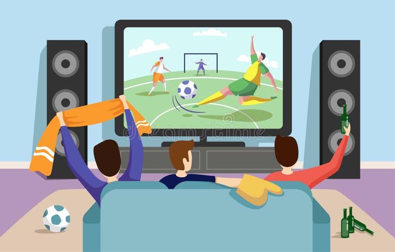 Kleurrijke illustratie van een gelijke van het voetbalvoetbal stock illustratie