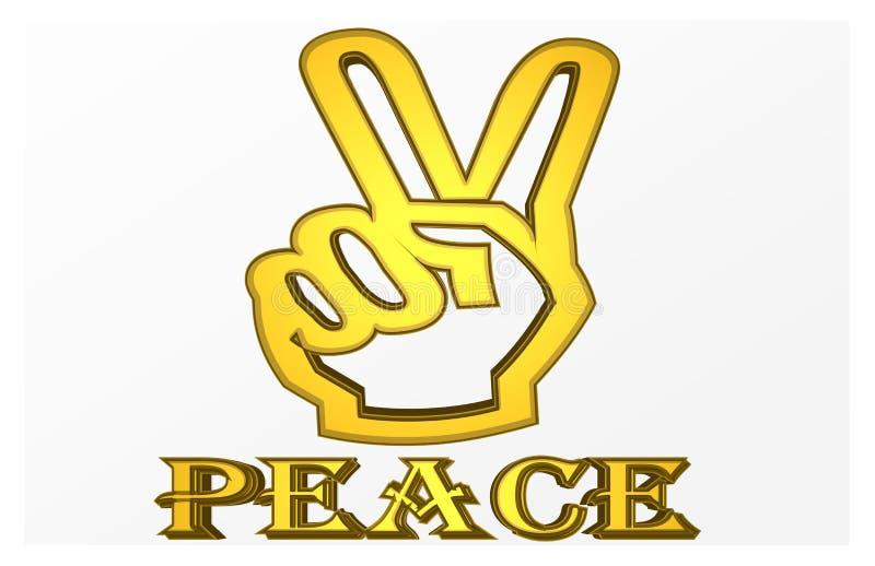 Kleurrijke Illustratie van een `-Vrede ` die gaat exploderen stock illustratie