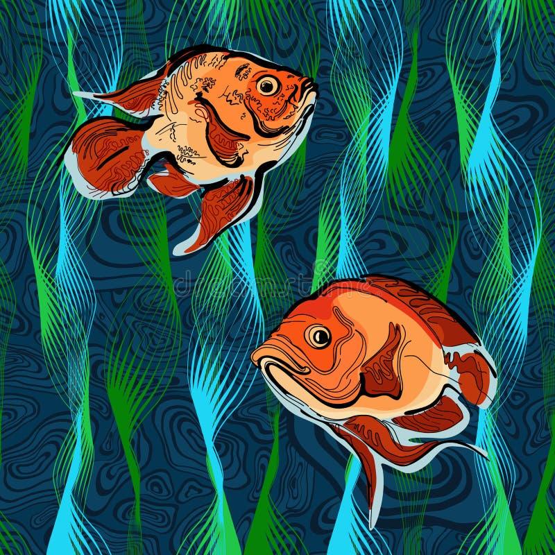 Kleurrijke illustratie van vissen 4 stock foto