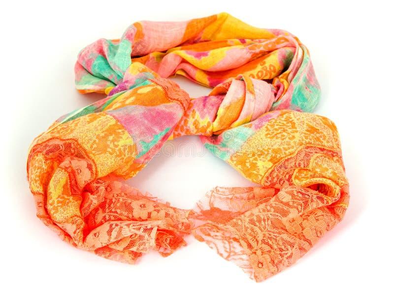 Download Kleurrijke Indische Verbonden Sjaal Geïsoleerd Stock Foto - Afbeelding bestaande uit sinaasappel, zijde: 54075408