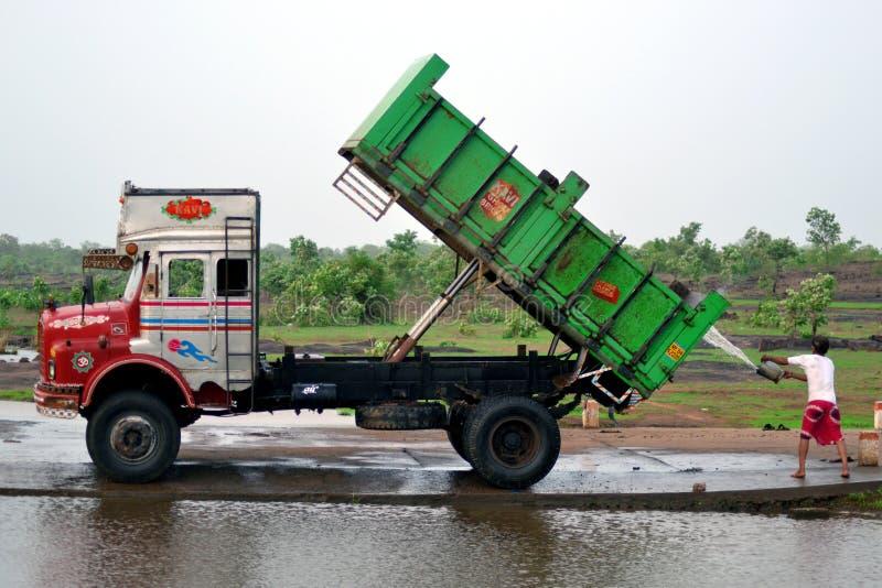 Kleurrijke Indische Vrachtwagen royalty-vrije stock afbeeldingen