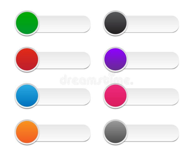 Kleurrijke infographic etiketten vector illustratie