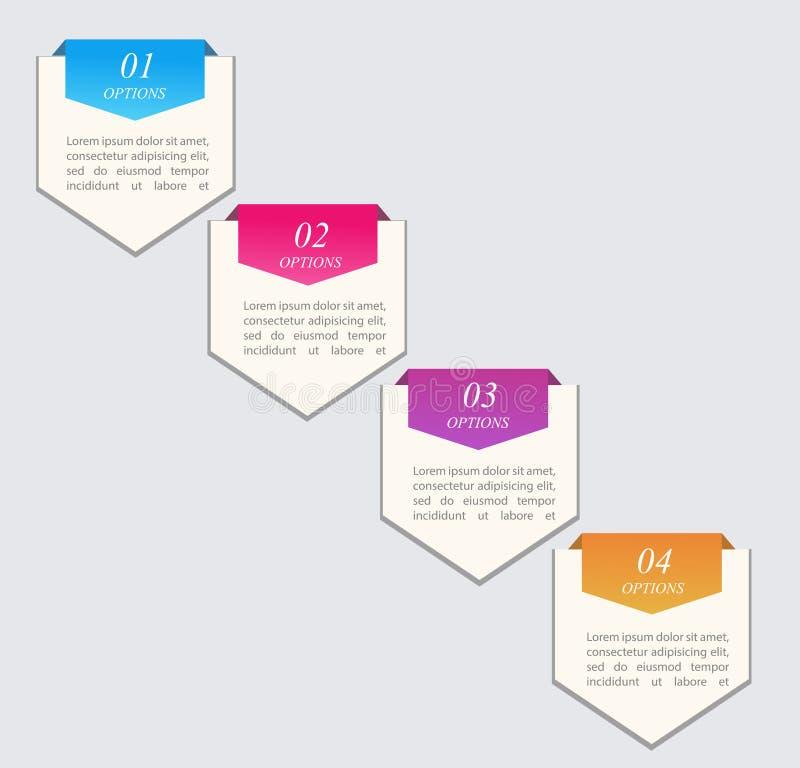 Kleurrijke Infographics stock illustratie
