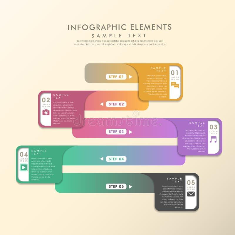 Kleurrijke infographics van de gradiënt abstracte banner stock illustratie