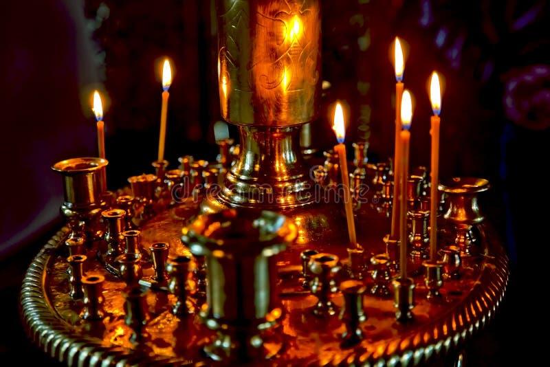 Kleurrijke Kaarsen royalty-vrije stock foto's