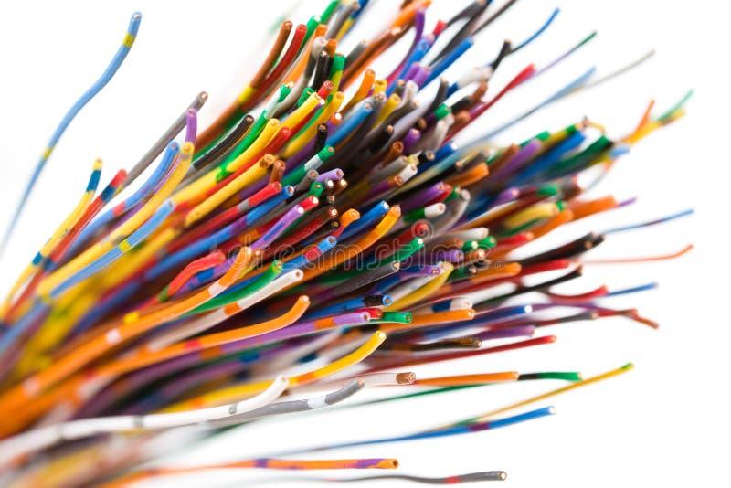 Kleurrijke kabel royalty-vrije stock afbeelding