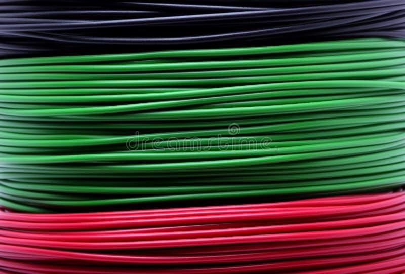 Kleurrijke kabels royalty-vrije stock fotografie