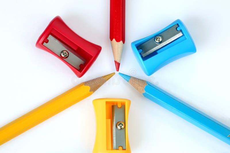 Kleurrijke kantoorbehoeften stock fotografie