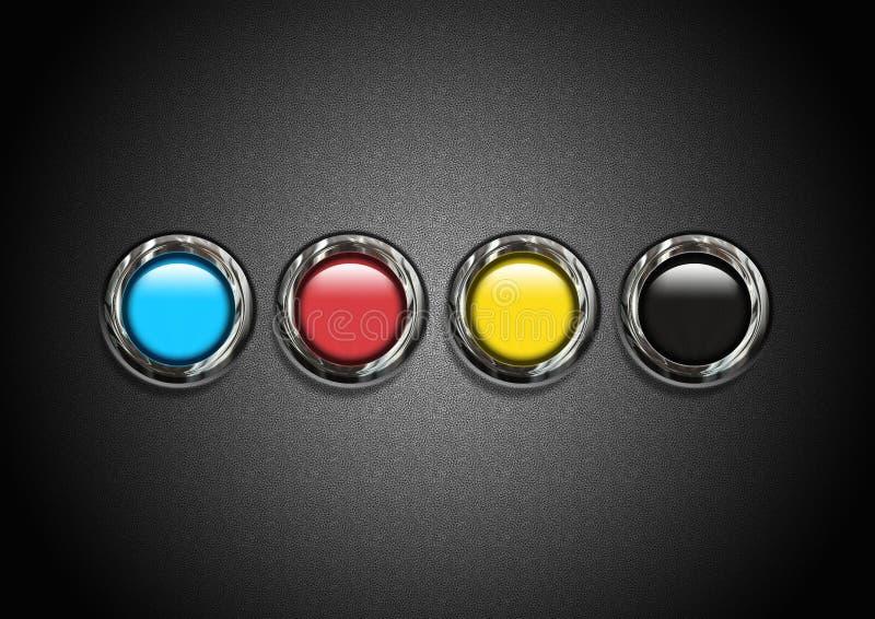 Kleurrijke karakters in textuur stock foto