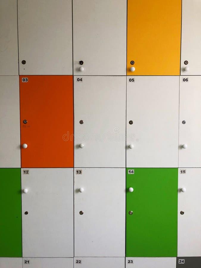 Kleurrijke kasten stock fotografie