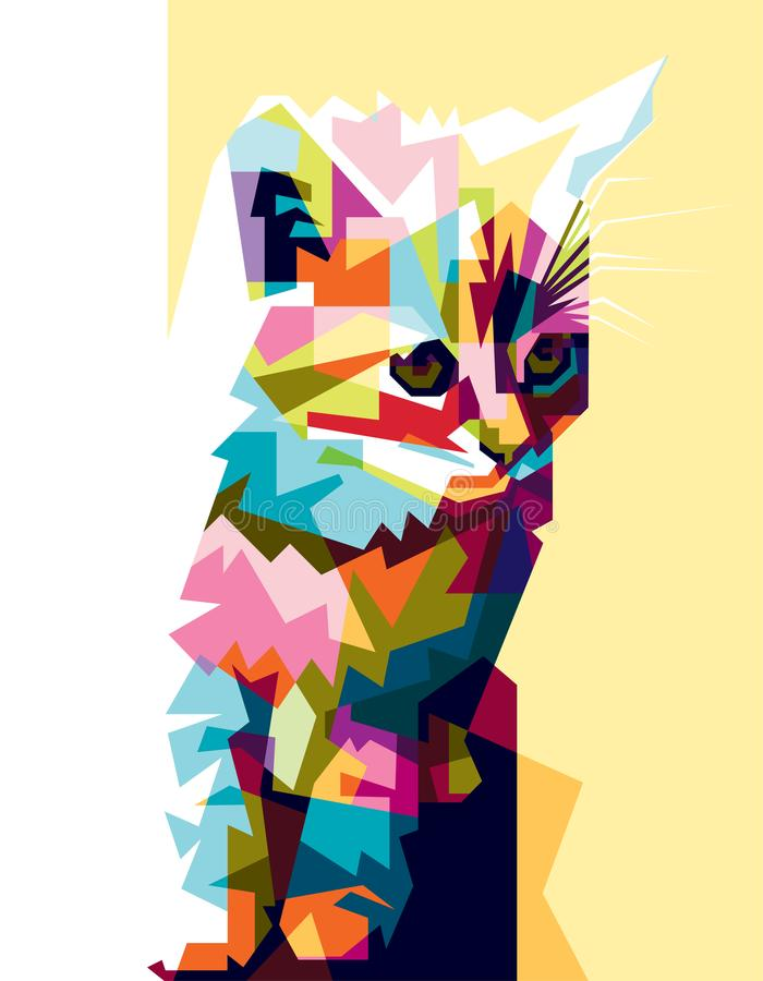 Kleurrijke kattenschreeuw stock foto's