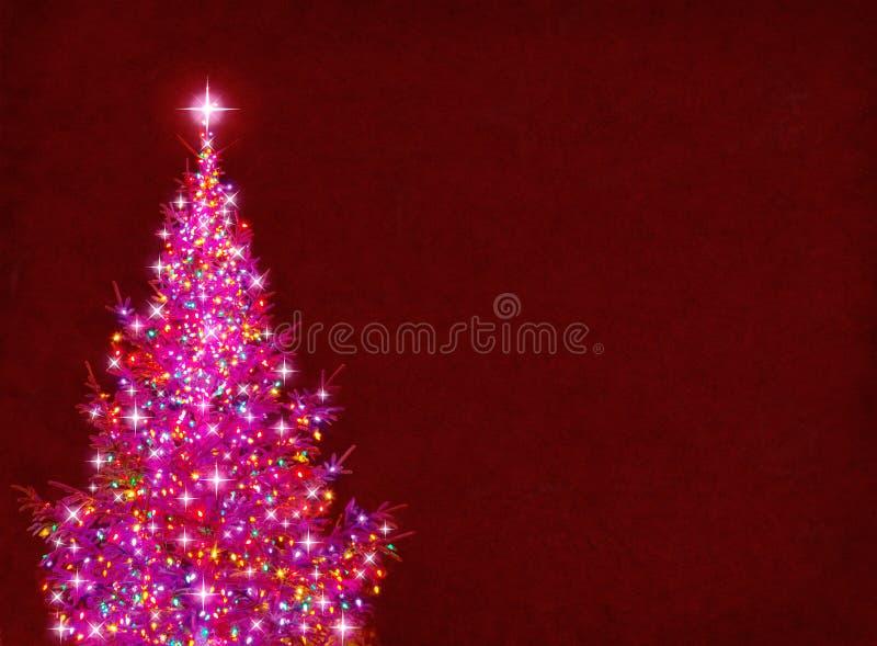 Kleurrijke Kerstboom royalty-vrije illustratie
