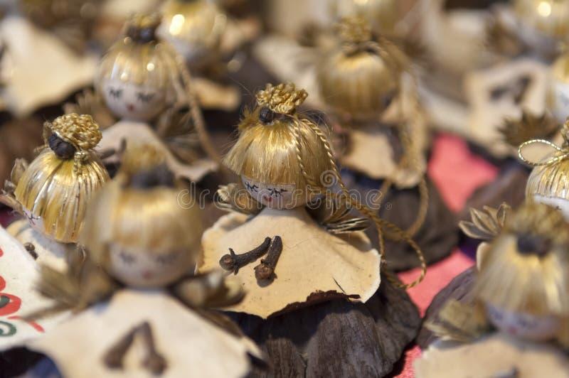 Kleurrijke Kerstmismarkt in Boedapest stock fotografie