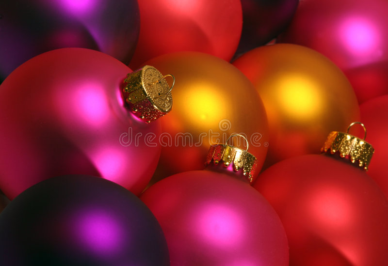 Kleurrijke Kerstmisornamenten stock afbeelding