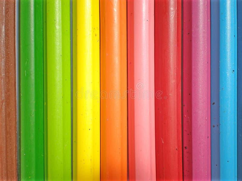 Kleurrijke kleurpotloden stock foto's